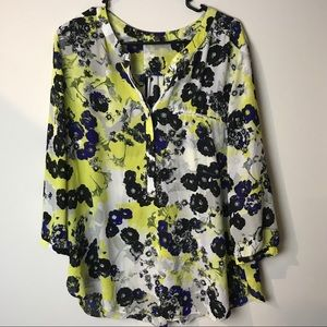 Not your daughters jeans nydj tunic print neon top